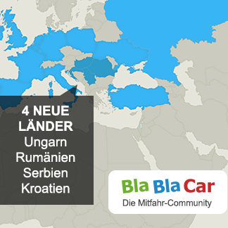 BlaBlaCar in 4 neuen Ländern verfügbar