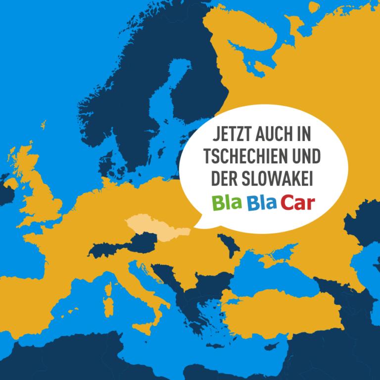 Mitfahren jetzt auch in Tschechien und der Slowakei