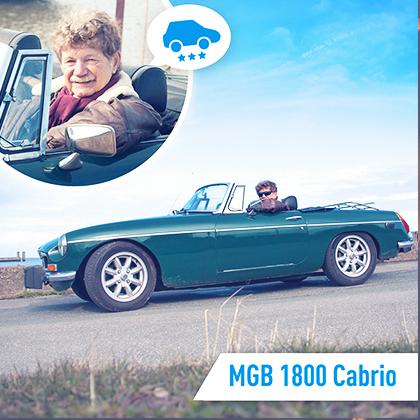 Mitfahr-Auto des Monats: MGB 1800 Cabrio