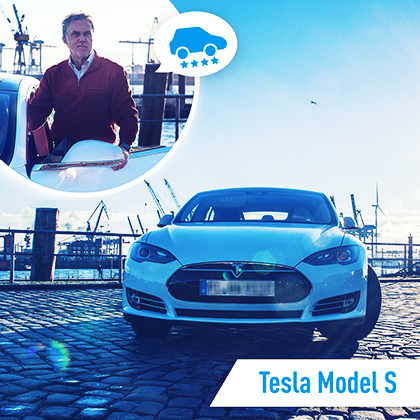 Mitfahr-Auto des Monats: Tesla Model S