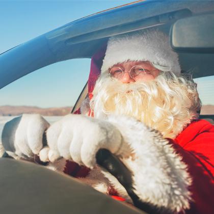 Weihnachtsstimmung im Auto