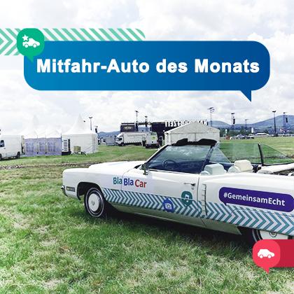 Mitfahr-Auto des Monats : Festival-Cadillac
