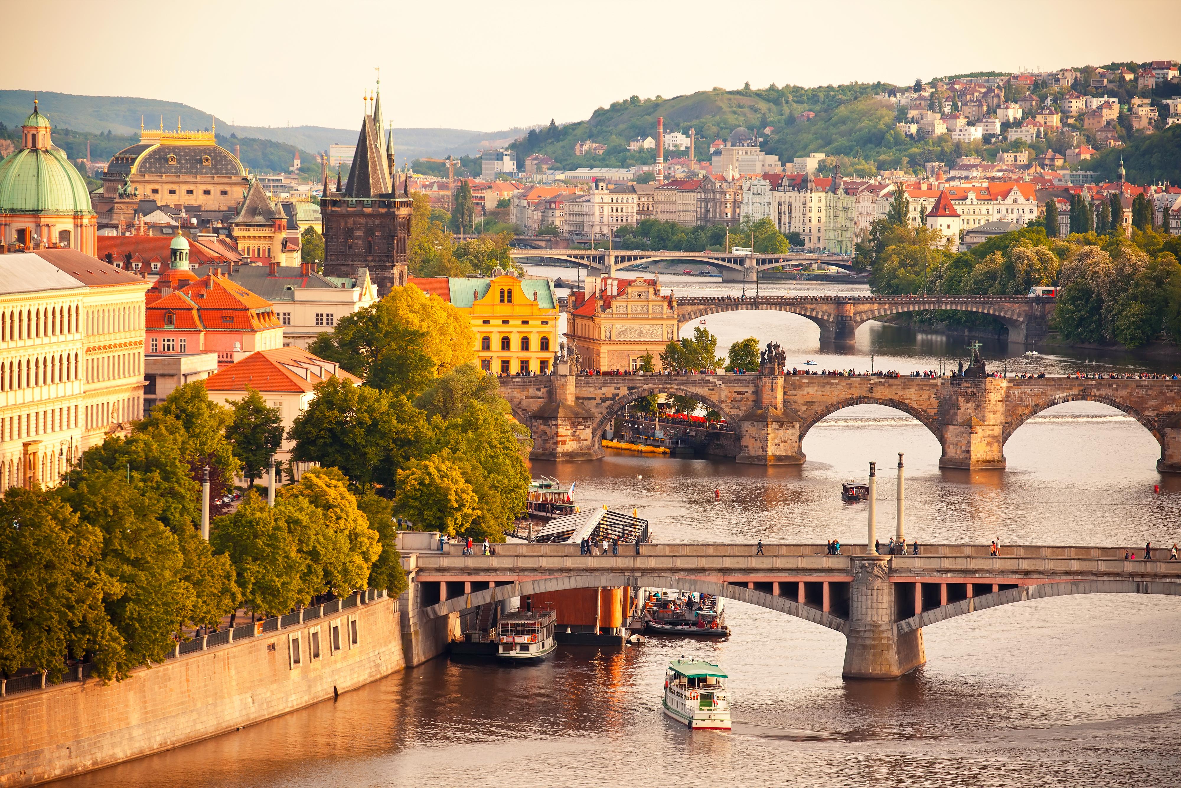 Prag Fluss und Brücken