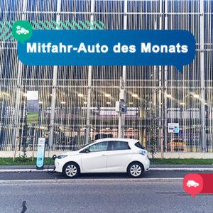 Mitfahr-Auto des Monats: Renault ZOE