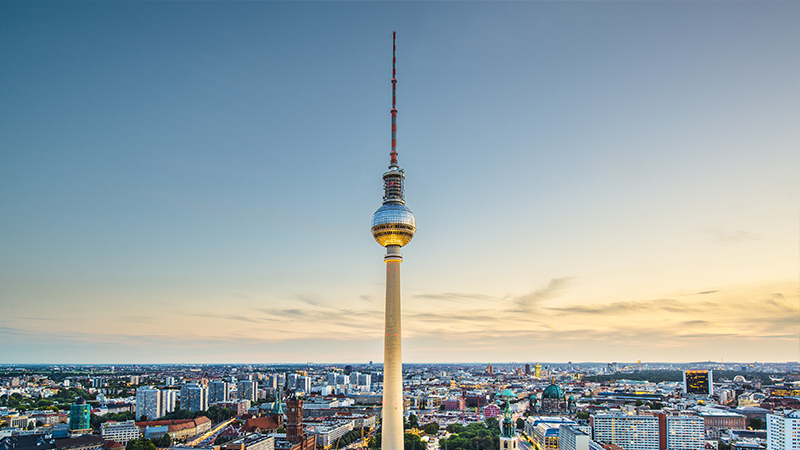 Berlin am Tag der deutschen Einheit