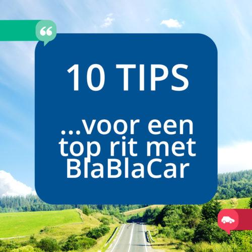 10 tips voor een top rit met BlaBlaCar