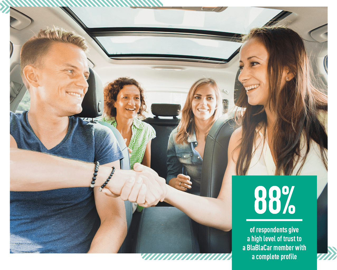 blablacar members are trusty