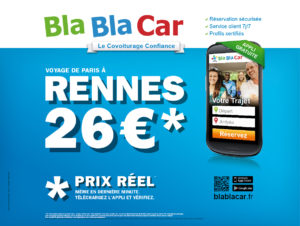 les covoitureurs s 39 affichent dans le m tro blablacar. Black Bedroom Furniture Sets. Home Design Ideas