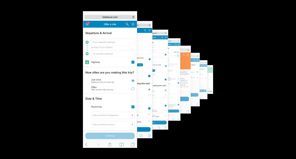 Дизайн BlaBlaCar: Принцип дизайна приложения и сайта