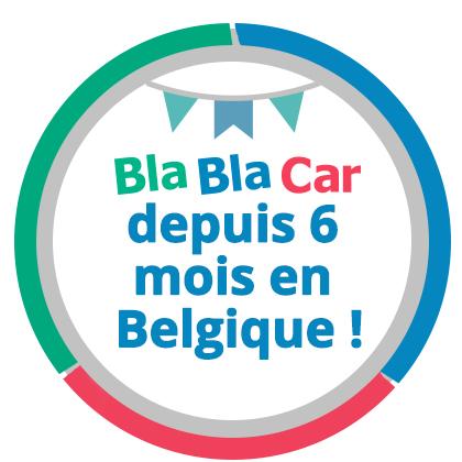BlaBlaCar depuis 6 mois en Belgique !