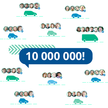 10 миллионов россиян на BlaBlaCar!