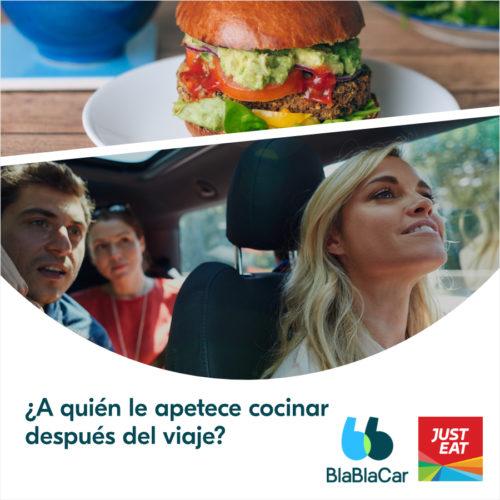 ¡Llévate una comida gratis con BlaBlaCar y Just Eat!