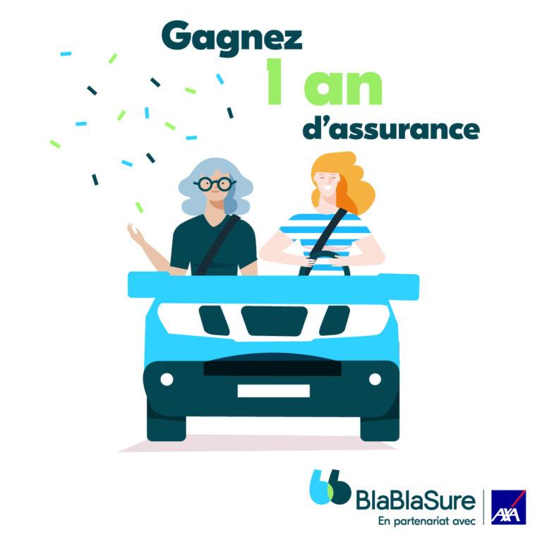 Jeu concours BlaBlaSure : 1 an d'assurance auto à gagner