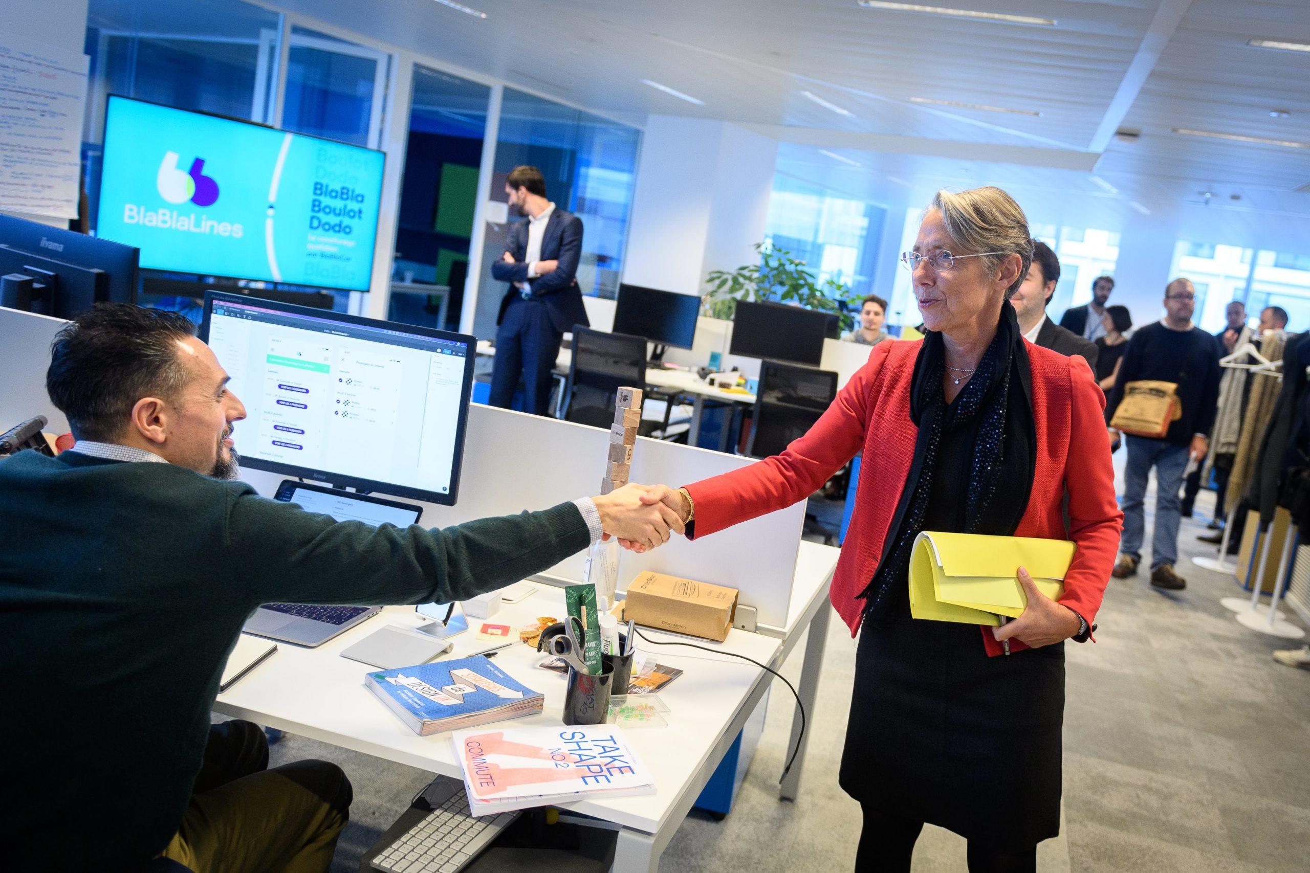 BlaBlaCar accueille la Ministre de la Transition Écologique et Solidaire