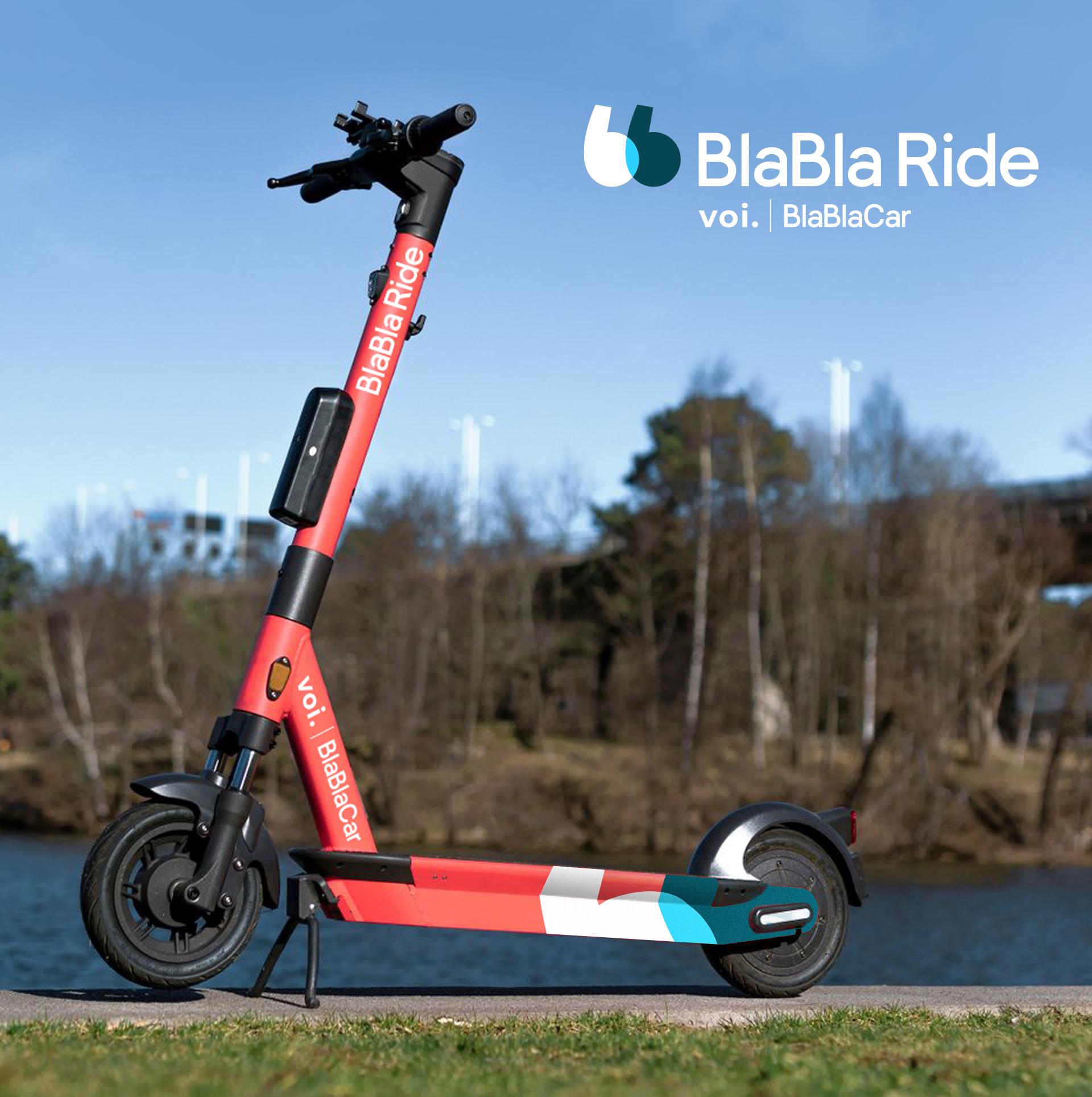 BlaBlaCar et Voi Technology s'associent : les trottinettes Voi deviennent BlaBla Ride en France