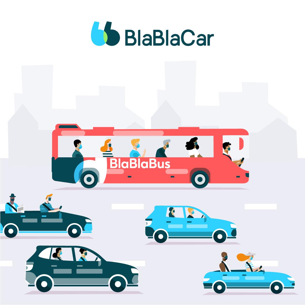 BlaBlaCar relancera BlaBlaBus au printemps 2021 et se concentre sur la demande de covoiturage