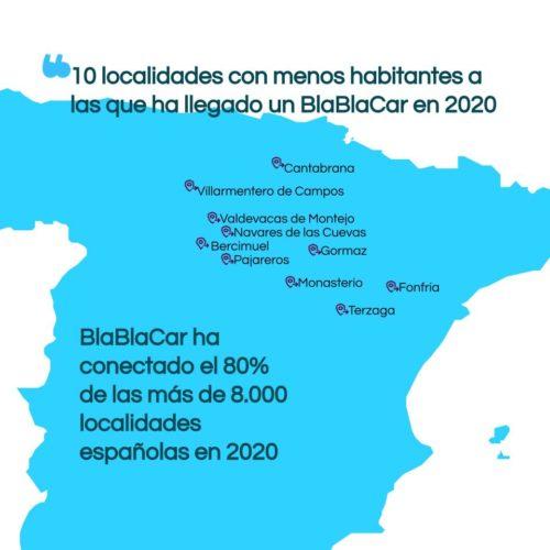 Los 10 pueblos más pequeños de España conectados por BlaBlaCar